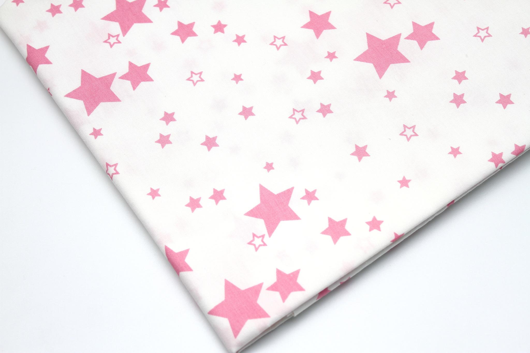 Звезды  розовые разные 2