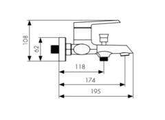 Смеситель KAISER Areva 08022 для ванны схема