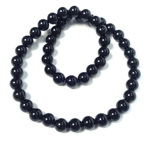 Бусины оникс черный (имитация) шар гладкий 8 мм