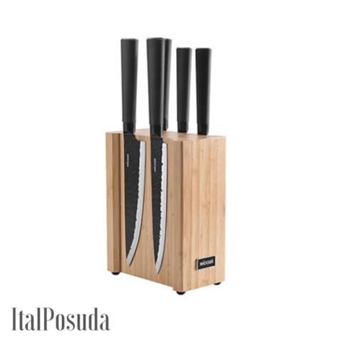 Набор из 5 кухонных ножей на магнитном блоке NADOBA HORTA, ND723616