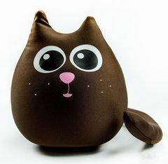 Подушка-игрушка антистресс Gekoko «Кот шоколадный большой» 2