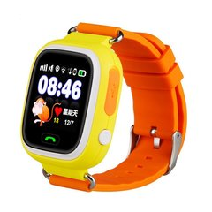 Детские часы Smart Baby Watch Q80 (Q90, GW 100) с GPS-трекером оранжевые