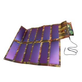 Складной гибкий солнечный элемент 65W, 12V с комплектом проводов