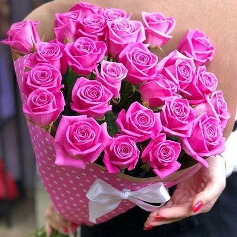 21 розовая роза 50 см (PbFlora) #4978