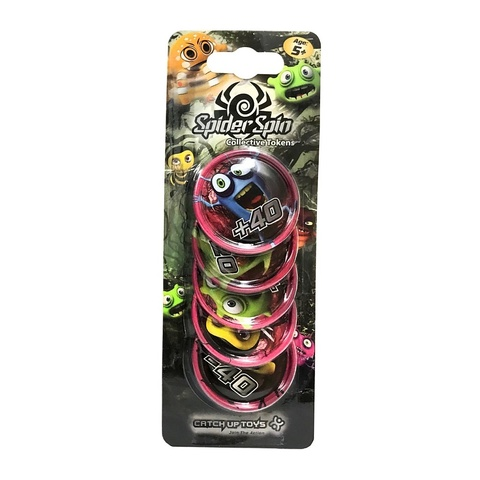 Жетоны CATCHUP TOYS Spider Spin. Collective Tokens (Pink)