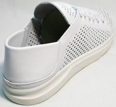 Стильные женские кеды туфли на плоской подошве ZiKo KPP2 Wite.
