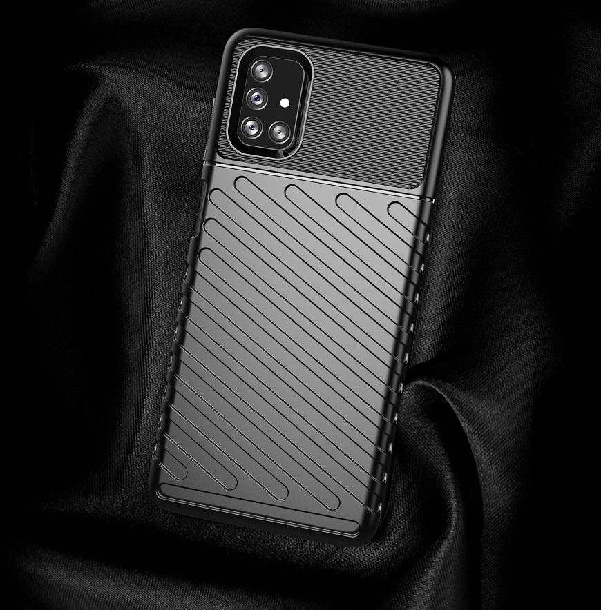 Черный противоударный чехол на Samsung Galaxy M51, серия Onyx от Caseport