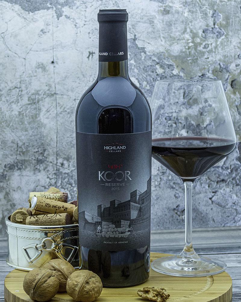 Вино Koor Красное Сухое Резервное 2015 г.у. 13,5% 0,75 л.