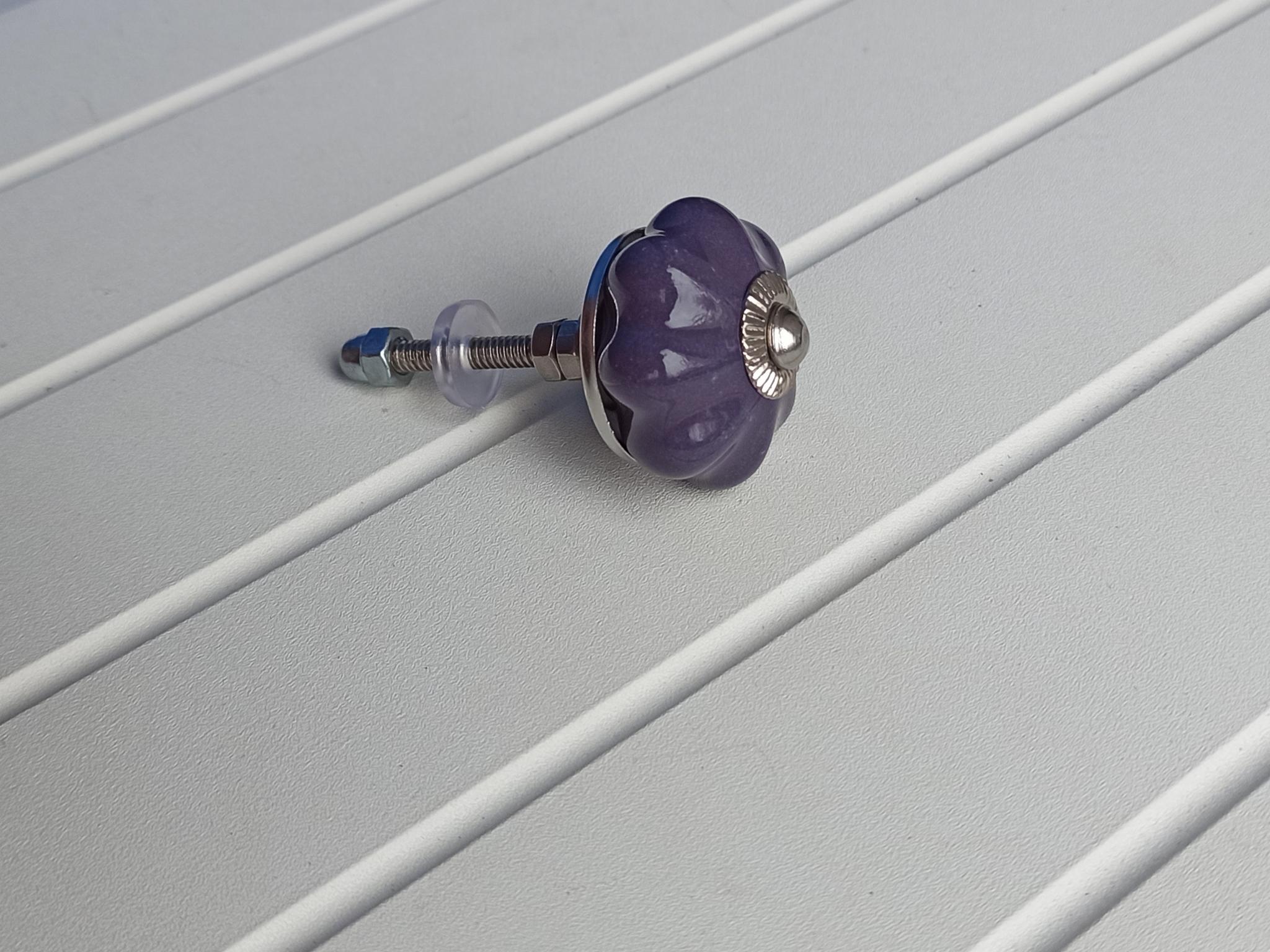 Ручка мебельная керамическая темнофиолетовый, арт. 00001252