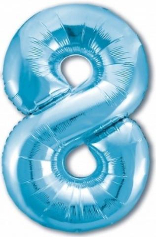 Р Цифра,8, Slim, Голубой, 40''/102 см
