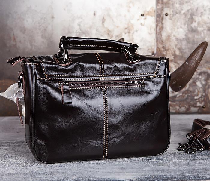BAG435-2 Вместительная мужская сумка портфель из натуральной кожи фото 05