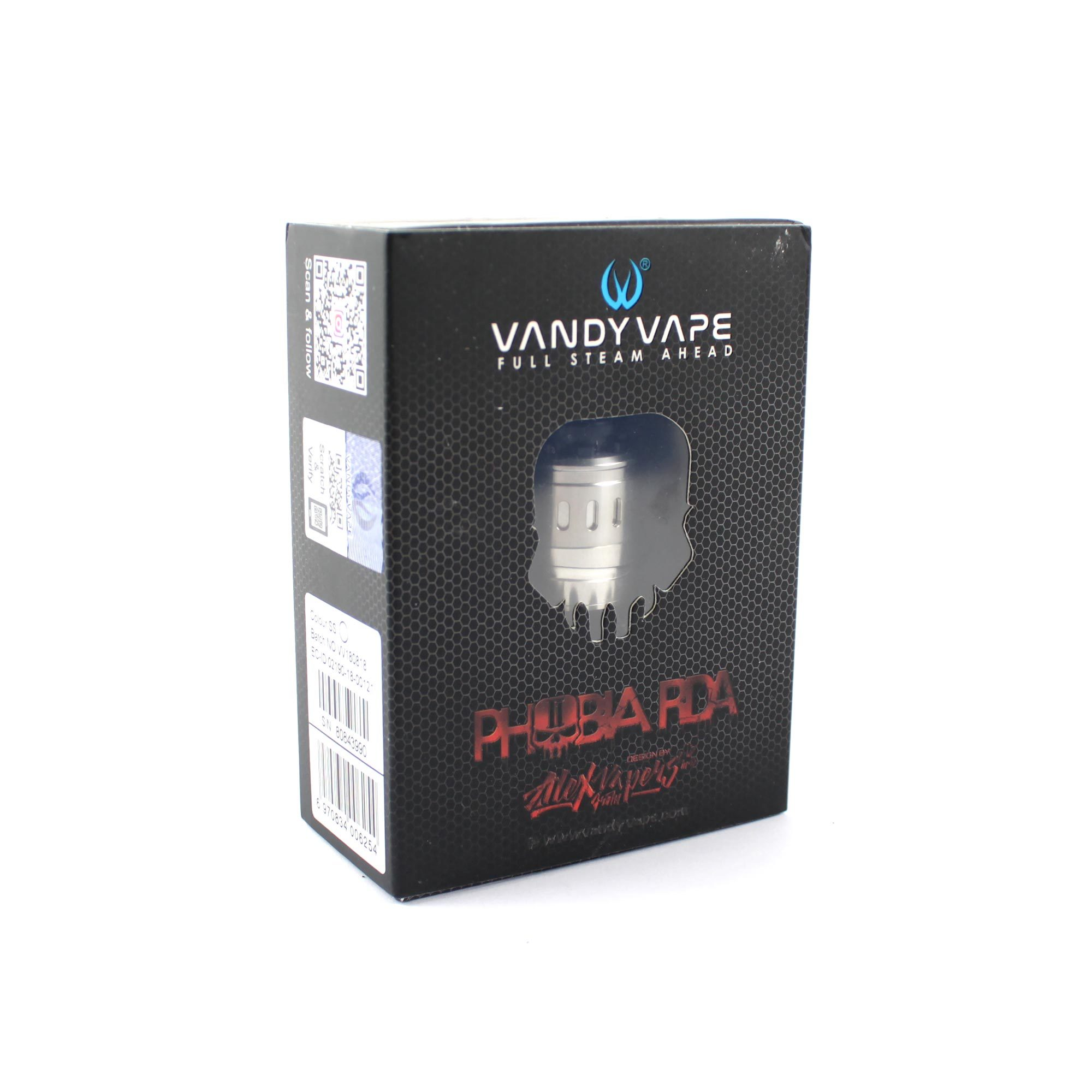 Фирменная коробка Vandy Vape Phobia V2 RDA (Authentic)