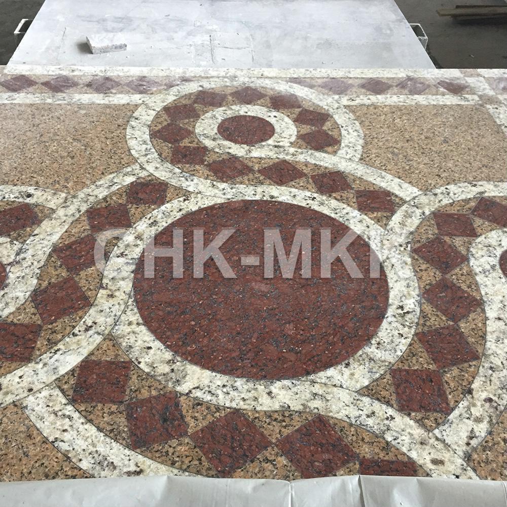 Гранитный пол для храма - ручная мозаика