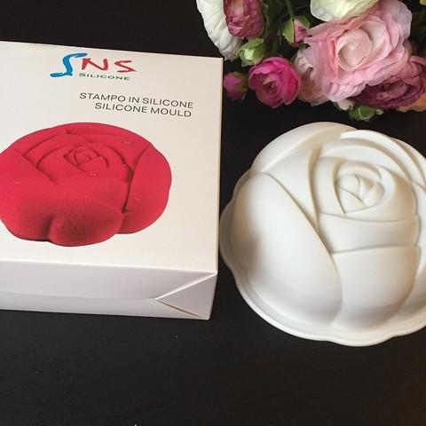 Силиконовая форма для выпечки SNS Роза-торт