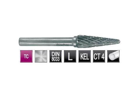 Бор-фреза твердосплавная L(KEL) 16,0х30x6x70мм HM Ruko 116237 (В)