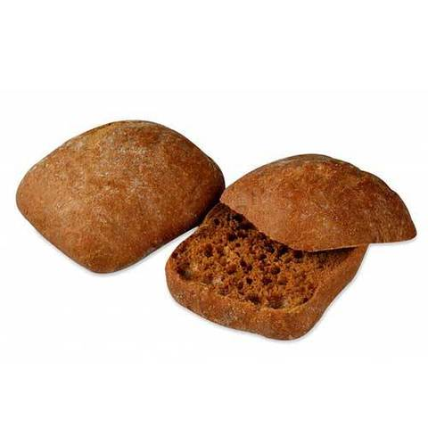 Хлеб Чиабатта ржаная 11х11 см., 110 гр.(вл.55)