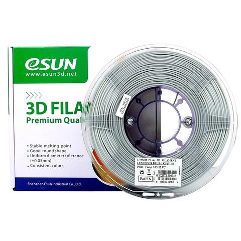 ESUN PLA+ 1.75 мм 1кг., светящийся синий
