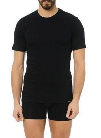 Мужская футболка черная из натурального хлопка Doreanse 2505