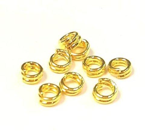 Кольцо двойное 4 мм золото цена за 25 шт