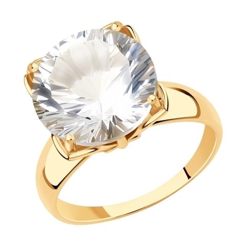 715818 - Кольцо из золота с горным хрусталем