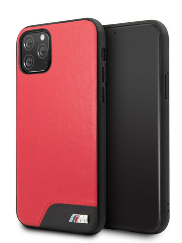 BMW / чехол для iPhone 11 Pro | M-Collection Smooth PU Hard Red