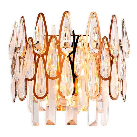 Настенный светильник с хрусталем TR5269/2 GD/CL золото/прозрачный E14/2 max 40W 240*230*140