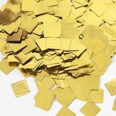 Конфетти фольга Квадрат, Золото, Металлик, 1 см, 50 г, 1 уп.