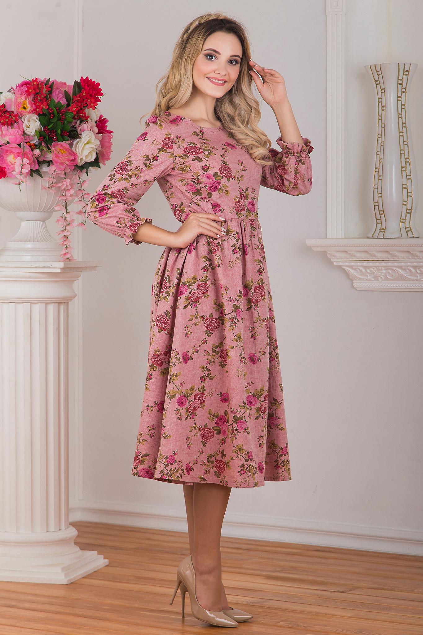 Вид сбоку Платье миди Прованс
