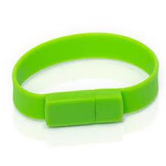 Силиконовая флешка - зеленая  4gb