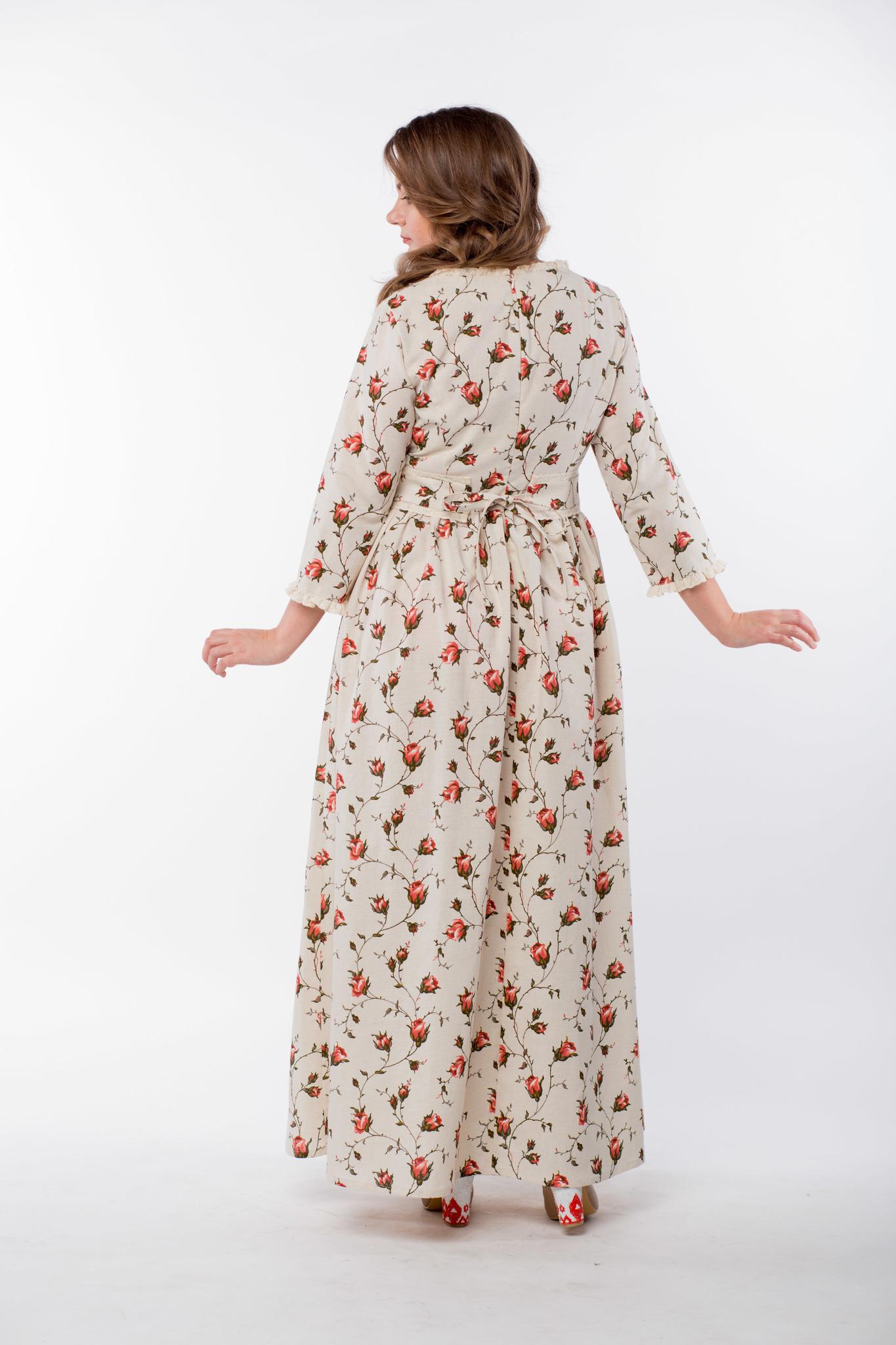 Платье льняное Сударыня вид сзади