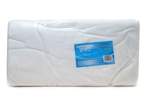 Полотенце малое 35*70 пачка белый спанлейс (№50шт)