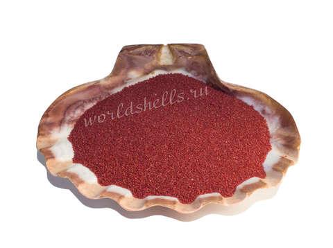 Бордовый кварцевый песок 1 кг.
