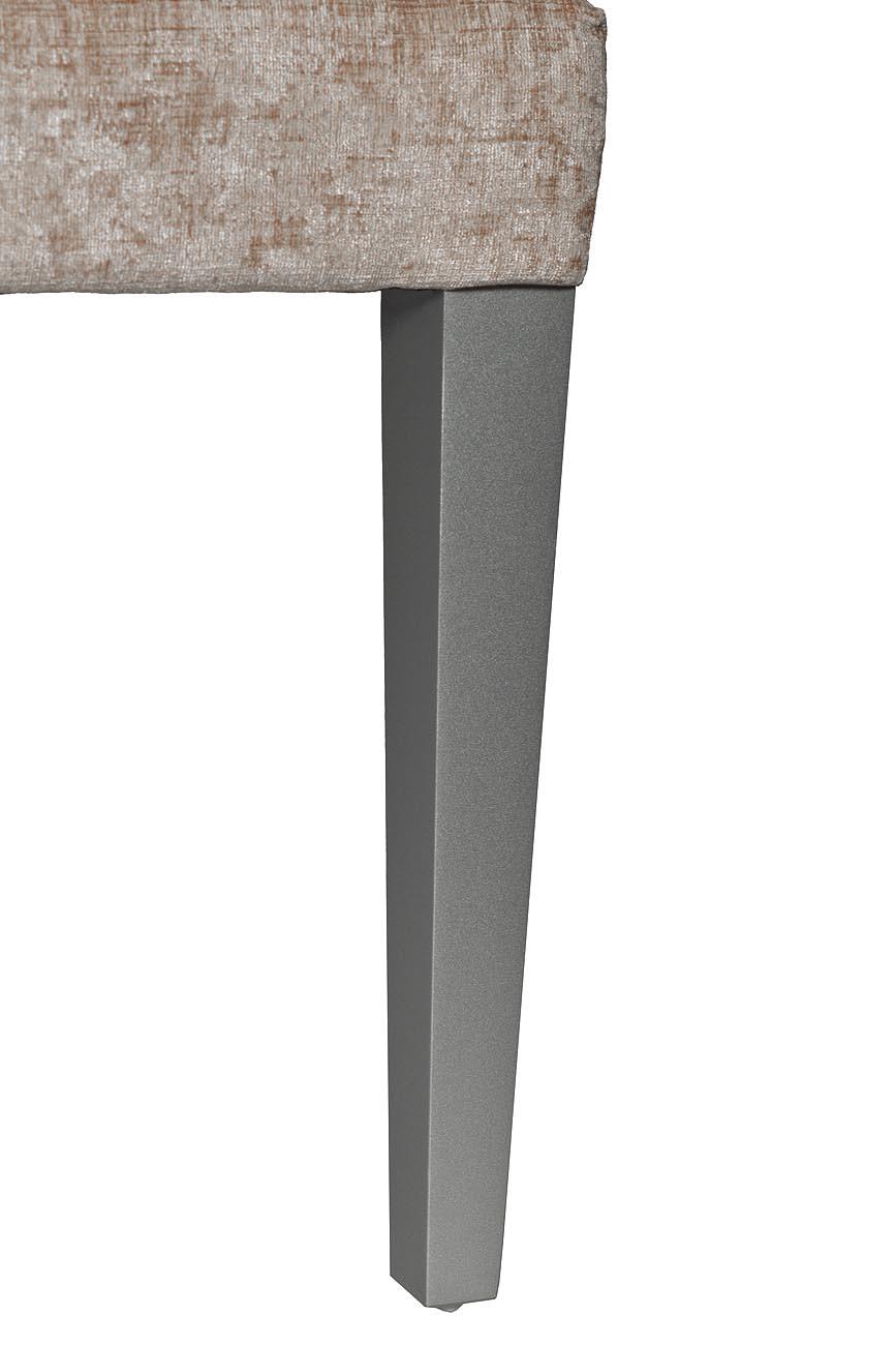 Стул DY-409J-81136-26 с кольцом бежевый велюр 47*52*98см