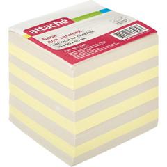 Блок для записей Attache Economy 90x90x90 мм разноцветный (плотность 65 г/кв.м)