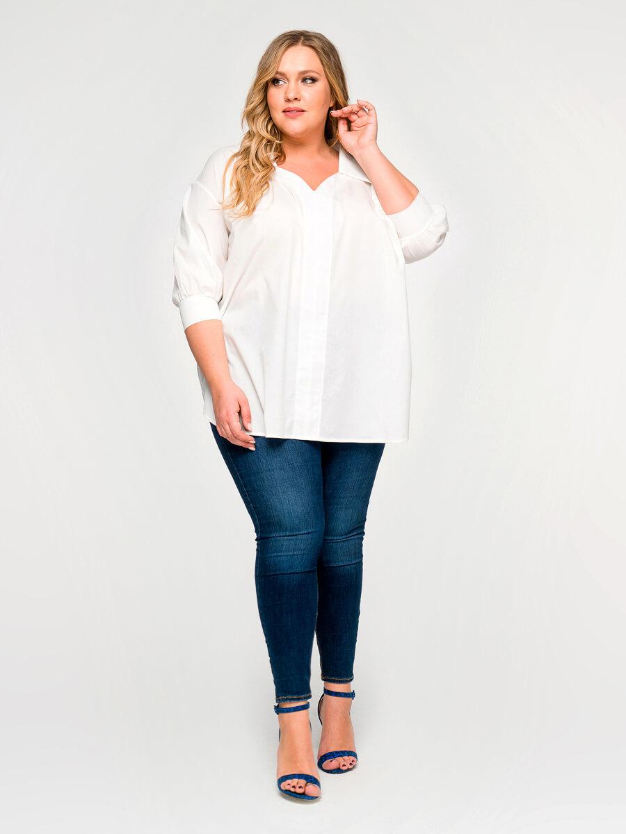 Блузки рубашки для полных девушек
