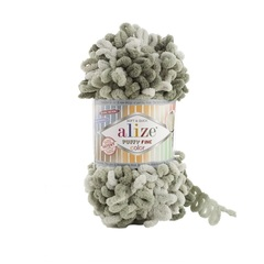 Пряжа Alize Puffy Fine Color цвет 6065