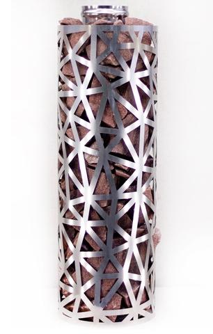 Сетка-каменка №2 (Лед) — d-350 — h-500 мм — нерж 1,5 мм AISI 430