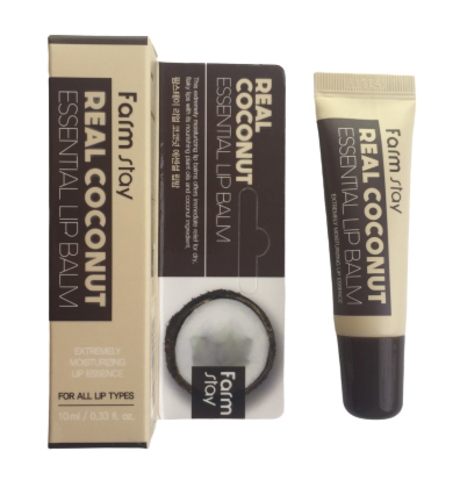 Бальзам для губ с экстрактом кокоса Farm Stay Real Coconut Essential Lip Balm, 10ml