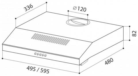 Вытяжка козырьковая Lex S 500 IX нержавеющая сталь управление: кнопочное (1 мотор)