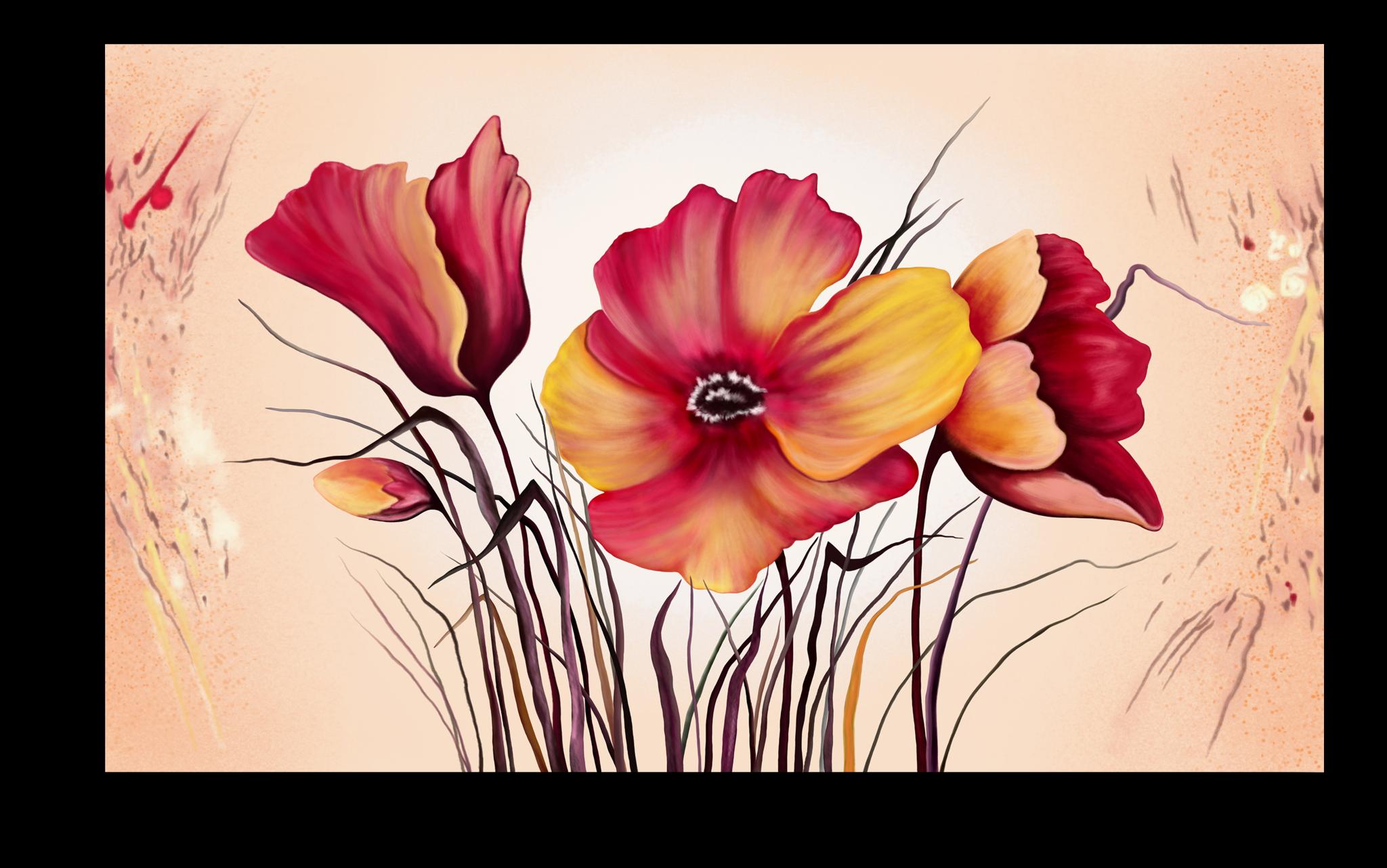 """Постеры Постер """"Красные цветы"""" п271.png"""