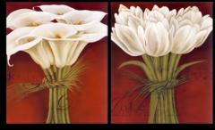 """Модульная картина """"Бутоны цветов"""""""