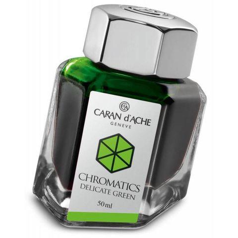 Флакон с чернилами Carandache Chromatic (8011.221) Delicate green для перьевых ручек 50мл