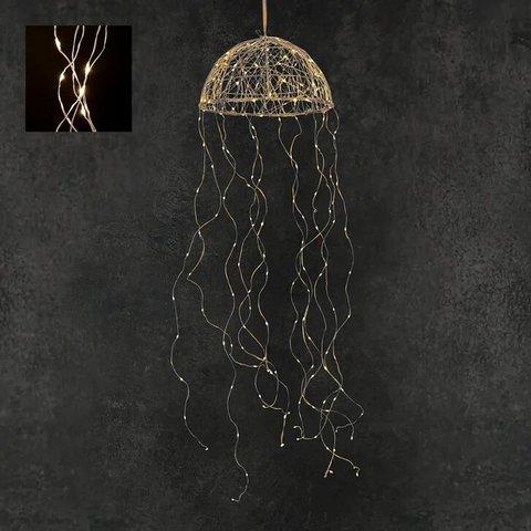 Гирлянда Медуза на серебряном проводе теплый белый свет, для наружного и внутреннего использования