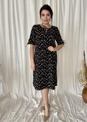 Ліна. Літнє плаття великих розмірів. Чорний