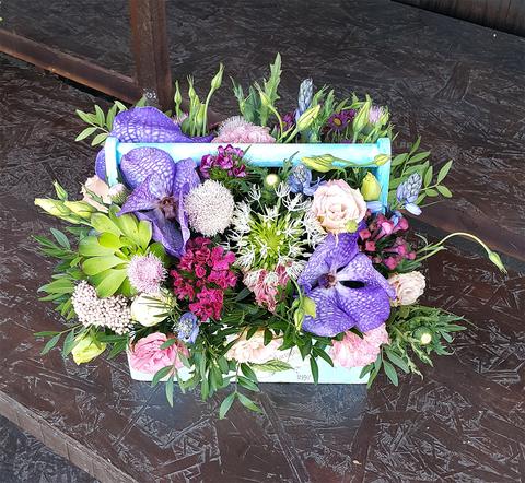 Ящик с цветами Ванда 4