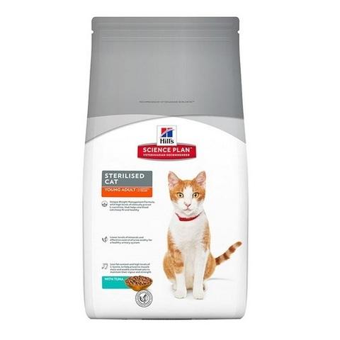 HILL'S Science Plan Сухой корм для стерилизованных котов и кошек от 6 месяцев до 6 лет с тунцом Young Adult Sterilised Cat Tuna 10кг