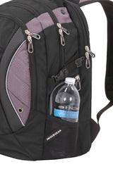 Рюкзак вместительный Swissgear чёрный/серый