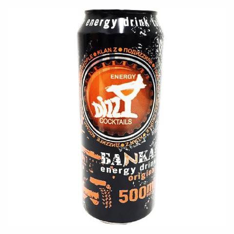 Напиток энергетический DIZZY Энерджи б/алк 0,5 л ж/б КАЗАХСТАН