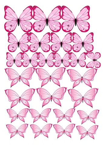 Печать на сахарной бумаге, Набор Бабочки 9