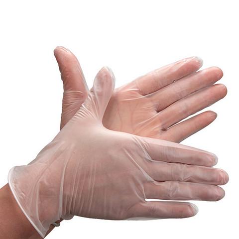Перчатки виниловые -  (50 штук)